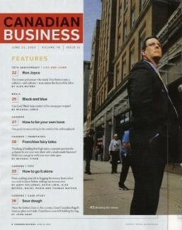Joe Canadian Business Cover